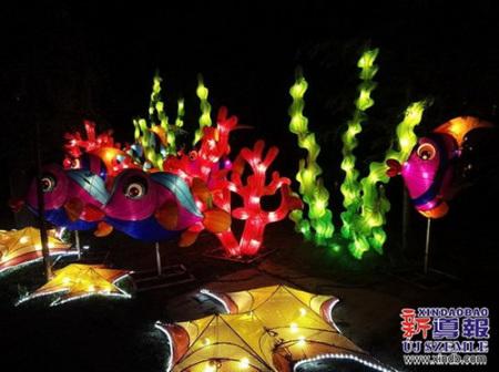 """匈牙利迎来奇妙""""龙之夜"""" 动物园现中国花灯展"""