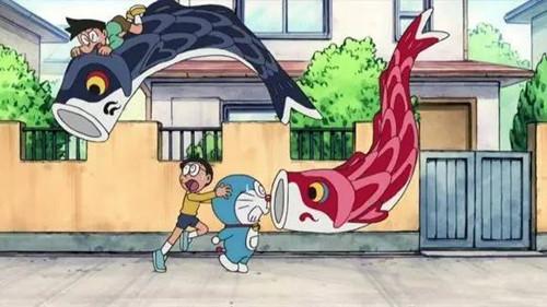 日本动漫《哆啦a梦》中的鲤鱼旗