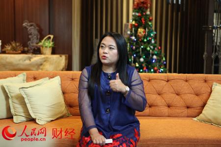 """久久国际集团创始人王琇瑛说,""""一带一路""""背景下的马来西亚更加具有魅力,让人不想离开。(人民网 伍振国/摄)"""