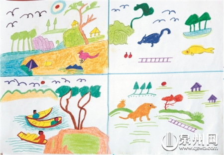 风景画,动物画