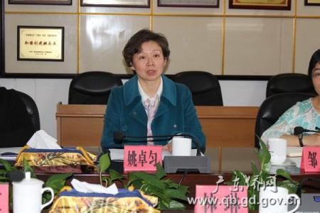上海市侨办姚卓匀副主任在座谈会上讲话。