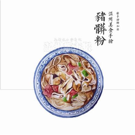 用手绘表现美食 90后妹子画出温州小吃别样味道-中国