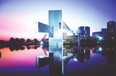 贝聿铭在美国克利夫兰设计的摇滚音乐名人堂,落成于1995年
