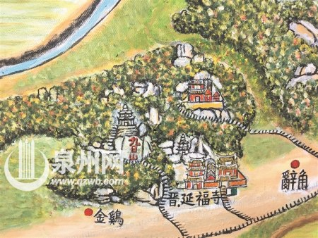 泉州花甲老人手绘《海丝源头》 千年历史入画