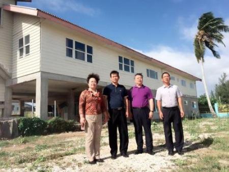 考察已初步建成的汤加华文学校