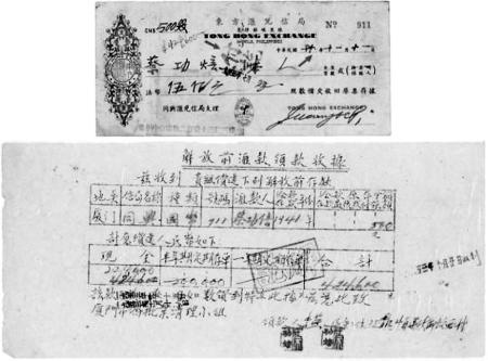 图2所示为1941年11月11日菲律宾马尼拉东方汇兑信局开出的1953年人民政府清偿的911号支票。