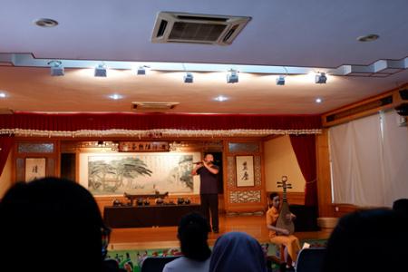中国茶艺表演厅内