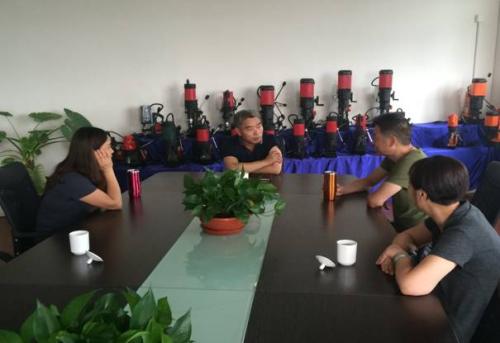 与博世特工具有限公司董事长陆春茂座谈