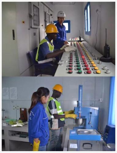 女建设者工作照 中国水电提供