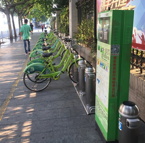 共享单车。(图片均由作者提供)