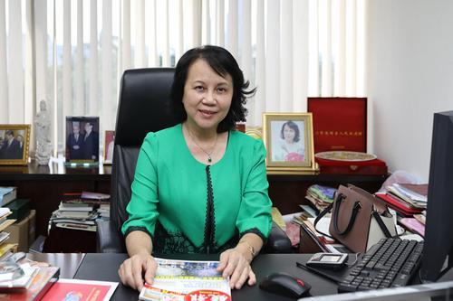 香港《镜报》执行社长徐新英。谢光磊 摄