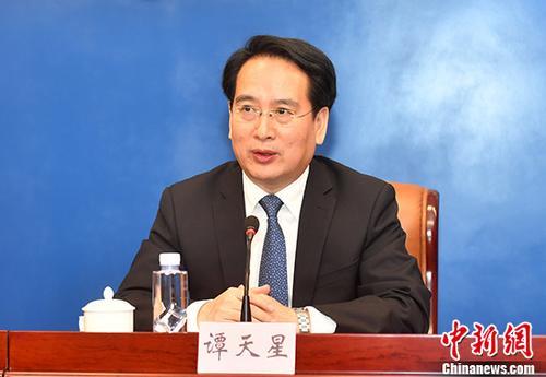 资料图 国务院侨务办公室副主任谭天星。 中新社记者 吕明 摄