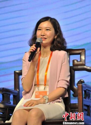 中国与全球化智库(CCG)秘书长苗绿 李晨韵 摄