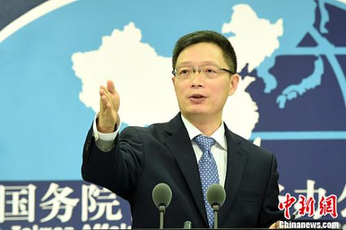 资料图片,国务院台湾事务办公室发言人安峰山。<a target='_blank' href='http://www.chinanews.com/'>中新社</a>记者 张勤 摄