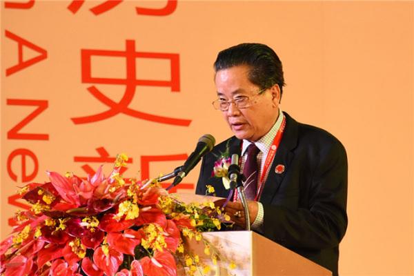 大会总主席、缅甸中华总商会会长吴继垣致辞(缅甸《金凤凰中文报》)