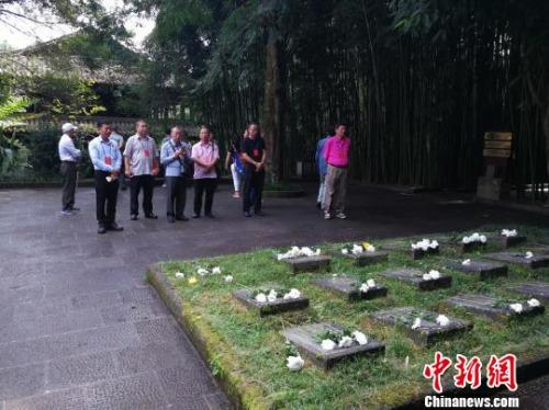 图为海外侨胞代表团参观腾冲国殇墓园 刘云燕 摄