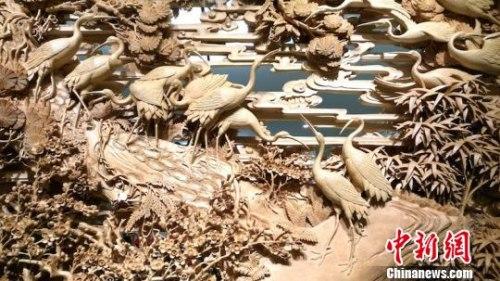 国家级非物质文化遗产——东阳木雕 东阳宣传部提供