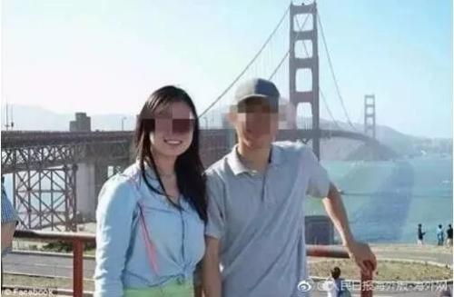 容新(右)与妻子。图片来源:人民日报海外版