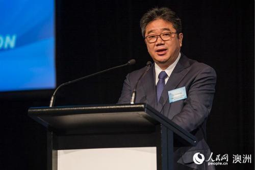 中国国家旅游局副局长李世宏在活动上致辞(摄影 贺吉)。
