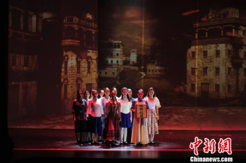 大型情景音乐舞蹈史诗《闯金山》在江门上演 索有为 摄