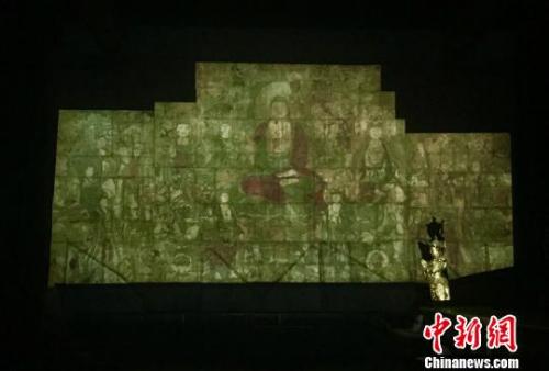 """流失海外近百年的广胜寺下寺的《药师经变》壁画已科技手段实现""""回归""""。 受访者提供"""