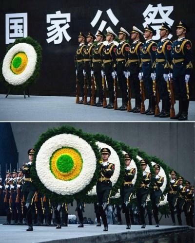 2016年12月13日,南京大屠杀死难者国家公祭仪式在南京举行,当日是第三个南京大屠杀死难者国家公祭日。(新华社记者李响摄)