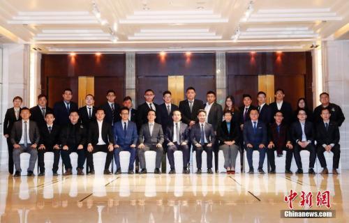 11月21日,中国海外交流协会副会长谭天星在北京会见马来西亚八大华青访华代表团一行。<a target='_blank' href='http://www.chinanews.com/'>中新社</a>记者 刘关关 摄