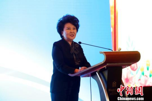 国务院侨务办公室主任裘援平出席并发表主旨讲话。 刘占昆 摄
