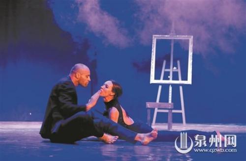斯洛文尼亚的这两位舞者,每两年创作一部双人舞。 (林劲峰 摄)