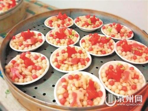 糯米丸子是泉州冬至的传统特色食物