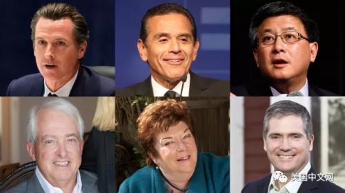 2018加州州长竞选主要参选人