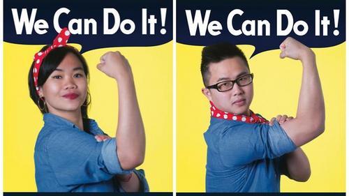 墨尔本留学生希望求职时获得平等对待,在街头挂上海报。(澳洲新快网援引SBS)