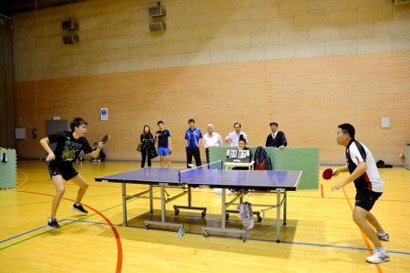 乒乓球比赛 (西班牙《欧华报》)