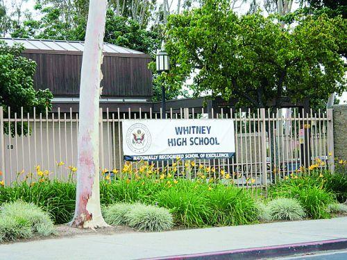 全加州排名第一的公立高中惠特尼高中。(美国侨报网 资料图)
