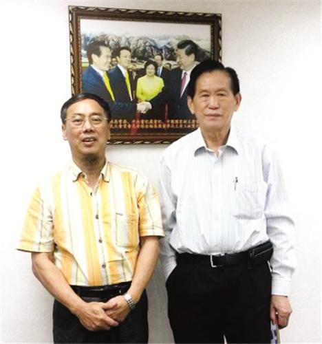 2016年6月27日王起鹍与《香港侨爱基金有限公司》基金会董事长王钦贤侨友
