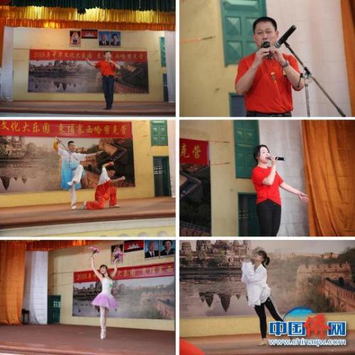 教师访问团展示才艺。 江苏省侨办 供图