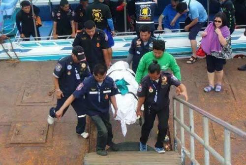 中国游客在泰国溺亡。图片来源:泰国《世界日报》