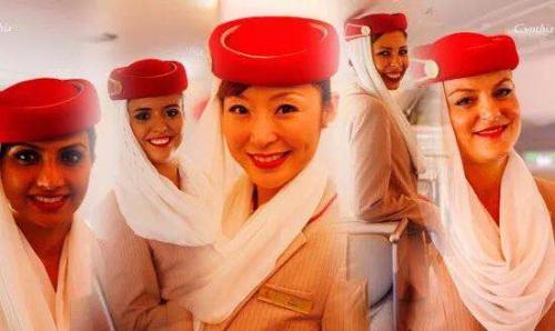 2010年,阿联酋航空的宣传图片上就已经出现了华人面孔,并在宣传图中处于重要位置。