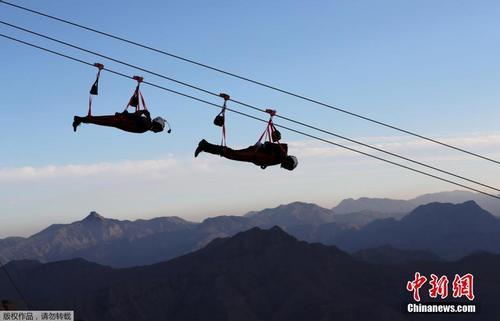 世界最长2.8公里高空滑索开放