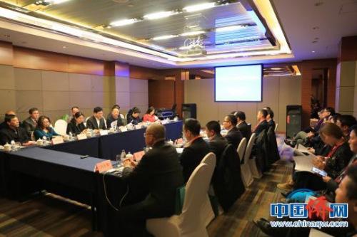 华侨华人回乡创新创业发展座谈会现场。 沈殿成 摄
