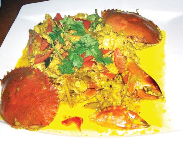朱春金精制的印尼菜肴。