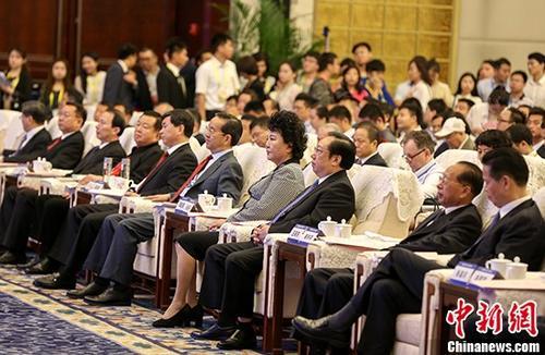 7月8日,第十七届华侨华人创业发展洽谈会在武汉开幕,来自海内外共计4000余代表参会。 中新社记者 张畅 摄