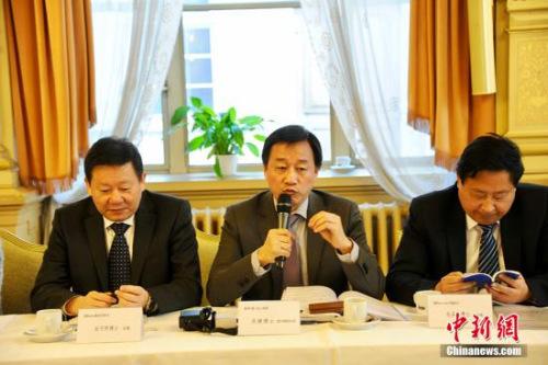 专业人士代表在22日的座谈会上发言。 中新社记者 彭大伟 摄