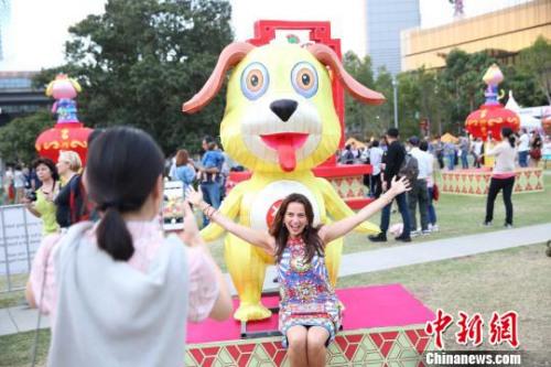 """""""悉尼中国新年灯会""""开幕。陶社兰 摄"""