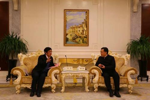 王华主任与南通市委书记陆志鹏会谈