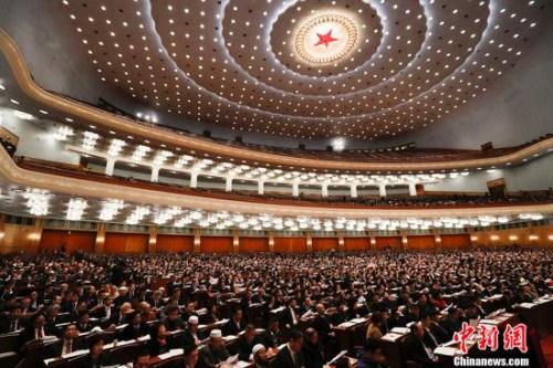 资料图:3月8日,全国政协十三届一次会议在北京举行第二次全体会议。 <a target='_blank' href='http://www.chinanews.com/'>中新社</a>记者 杜洋 摄