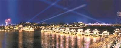 湘子桥,中国四大古桥之一,湘子桥的夜色别有一番情趣。