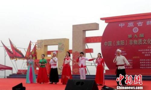图为陕西省非遗剧目的陕北民歌联唱。 刘鹏 摄