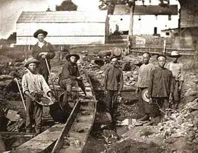 19世纪在美国加州金矿淘金的华人。