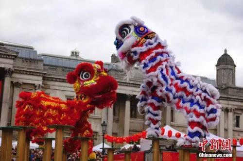 2018年中国春节庆典在英国特拉法加广场盛大举行